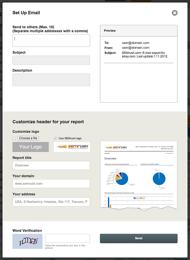 SEMrush: SEMrush has launched a new and exciting feature: branded PDF reports! image 2