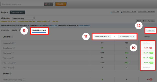 SEMrush: The New Site Audit: More Color, More Visibility, More Information! image 3
