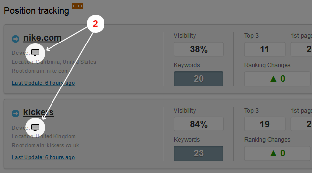 SEMrush: Target different devices with the Position Tracking tool! image 2