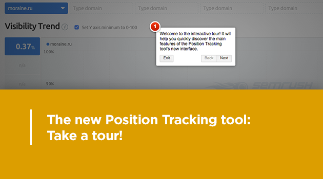 SEMrush: The new Position Tracking tool: Take a tour! image 1