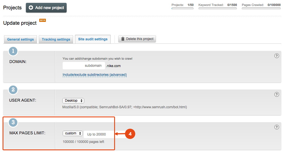 SEMrush: The Site Audit tool crawls 2 times more pages! image 3