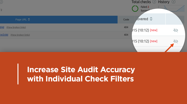 Exclude irrelevant issue from your Site Audit report
