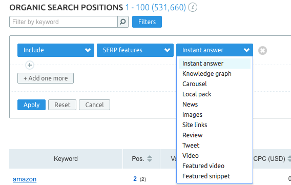 SEMrush: SERP Features and Keyword Difficulty Updates: All Databases image 2