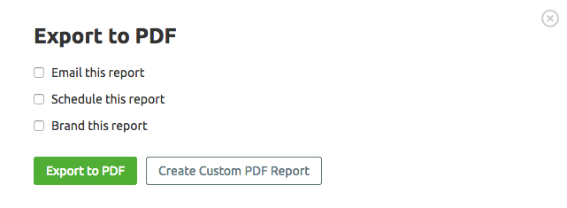 SEMrush: Social Media Tool: Export Activity Reports In PDF Format image 3