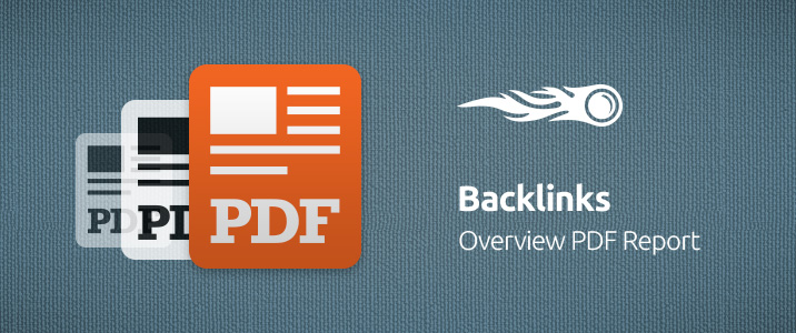 SEMrush: Backlink: Report panoramica PDF immagine 1
