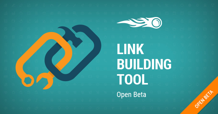 Link building tool banner