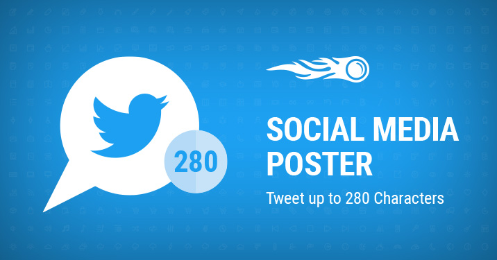 Tweet up to 280 Characters with Social Media Poster banner