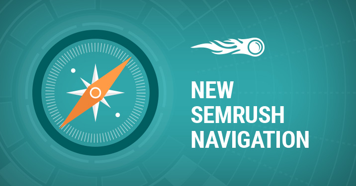 New SEMrush Navigation banner