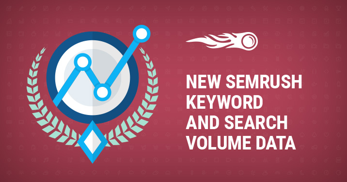 New SEMrush keyword and search data banner