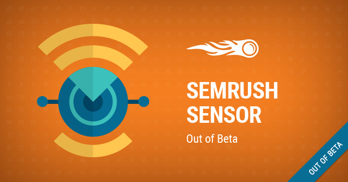 SEMrush Sensor out of beta banner