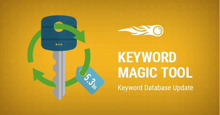 Keyword Magic Tool Database update