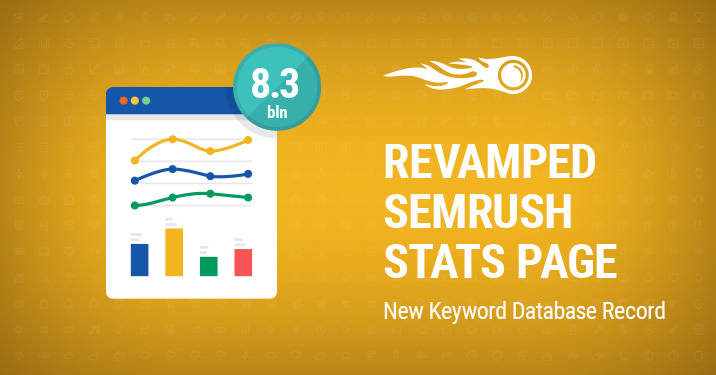 SEMrush: SEMrush Revamped Stats Page bild 1