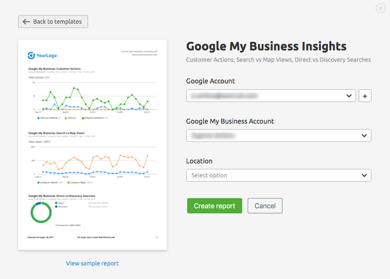 Google My Business Insights in My Reports