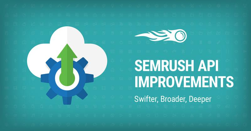 SEMrush: SEMrush API Improvements: Swifter, Broader, Deeper bild 1