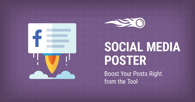 Boost Your Posts Right from the Tool