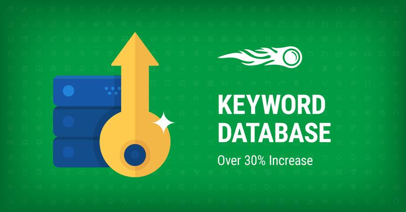 SEMrush: Keyword Database: Over 30% Increase image 1