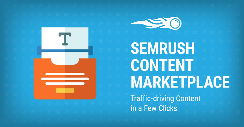 SEMrush Content Marketplace banner