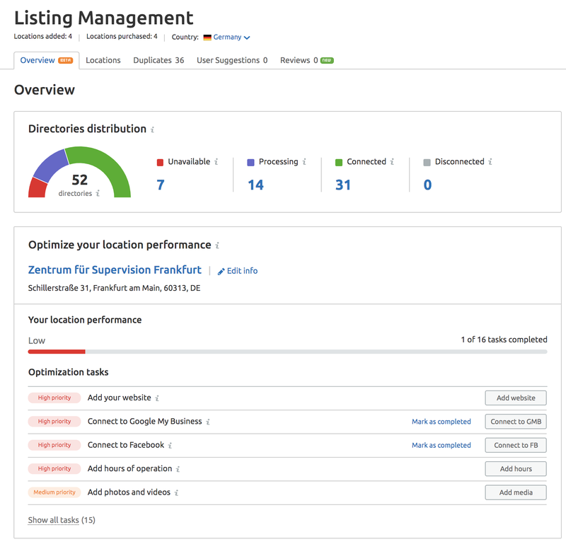 Listing Management Overview