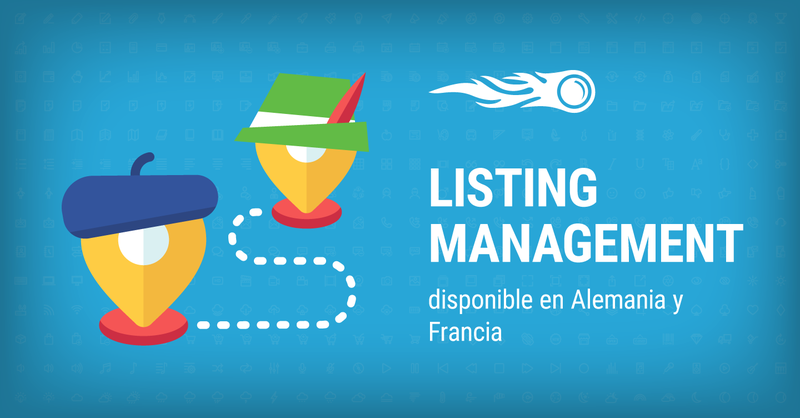 SEMrush: Listing Management: disponible en Alemania y Francia imagen 1