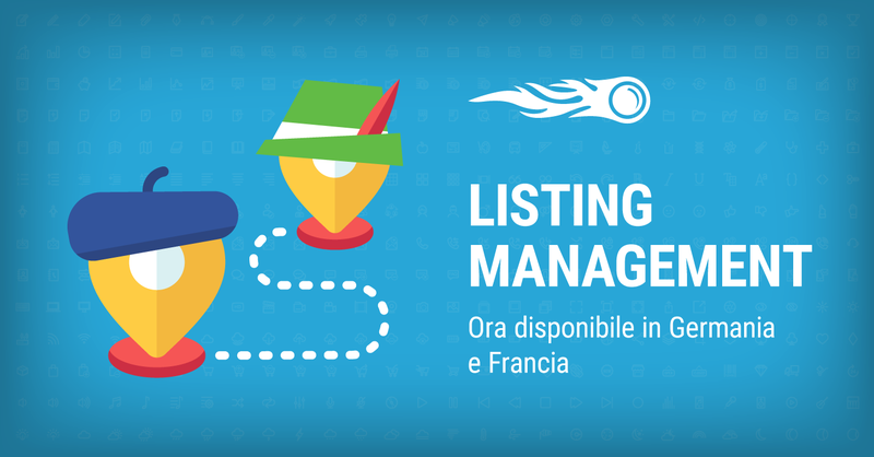 SEMrush: Listing Management: Ora disponibile in Germania e Francia immagine 1