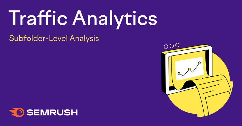 Semrush' Traffic Analytics Subfolders report